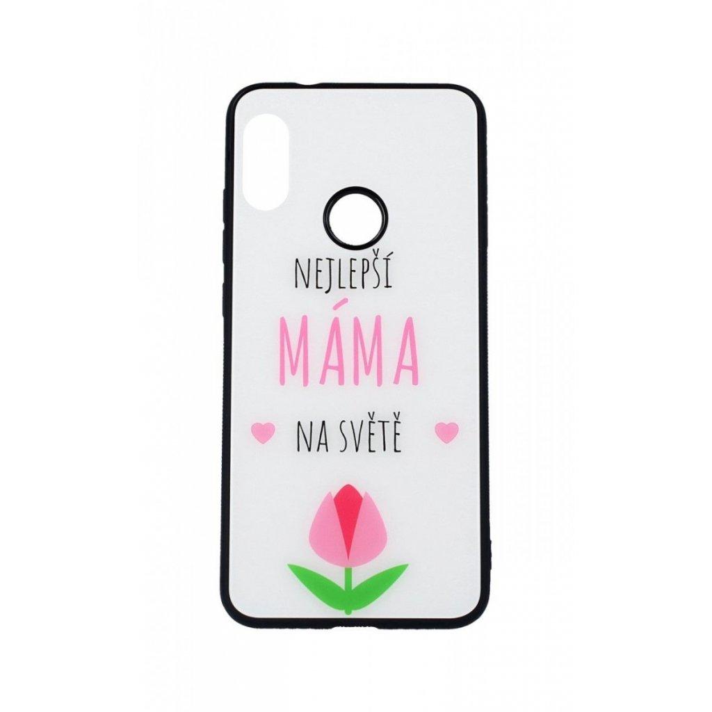 Zadný pevný kryt GLASS na Xiaomi Mi A2 Lite Najlepší mama na svete