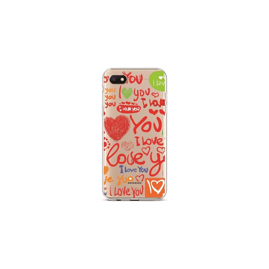 Zadný silikónový kryt na Xiaomi Redmi 6A Love