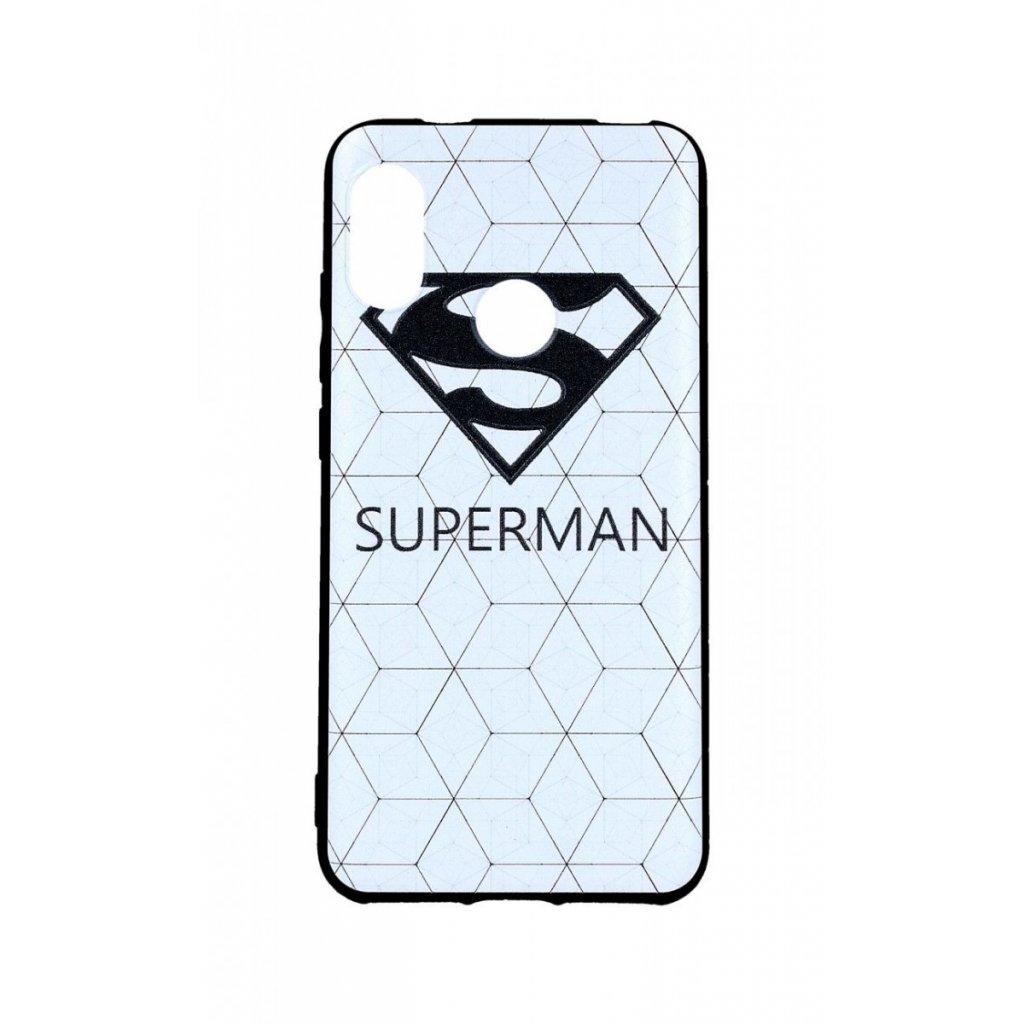 Zadný 3D silikónový kryt na Xiaomi Redmi Mi A2 Lite Biely Superman