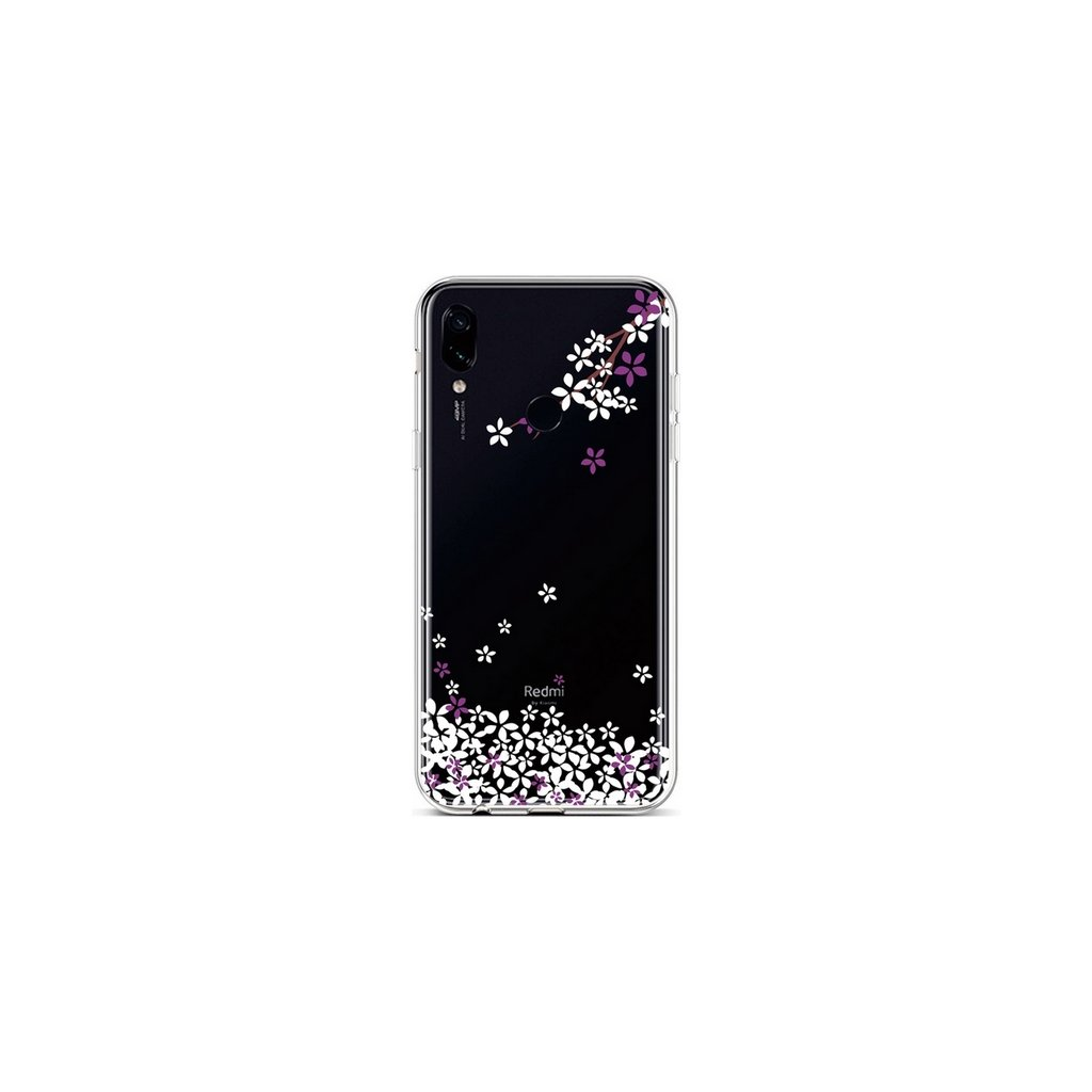 Zadný silikónový kryt na Xiaomi Redmi 7 Kvety sakury