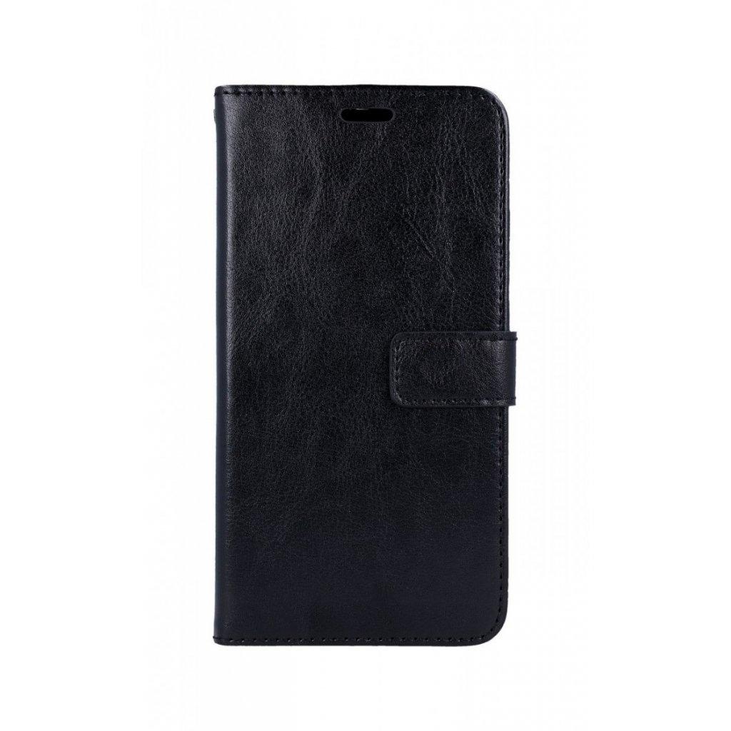 Flipové puzdro na Xiaomi Redmi 7 čierne koženka