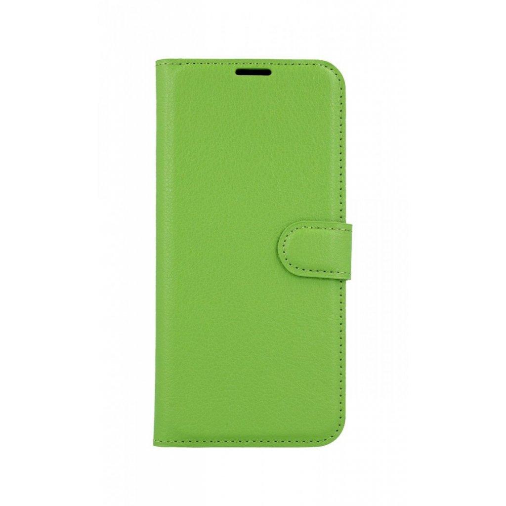 Flipové puzdro na Xiaomi Redmi 7 zelené s prackou