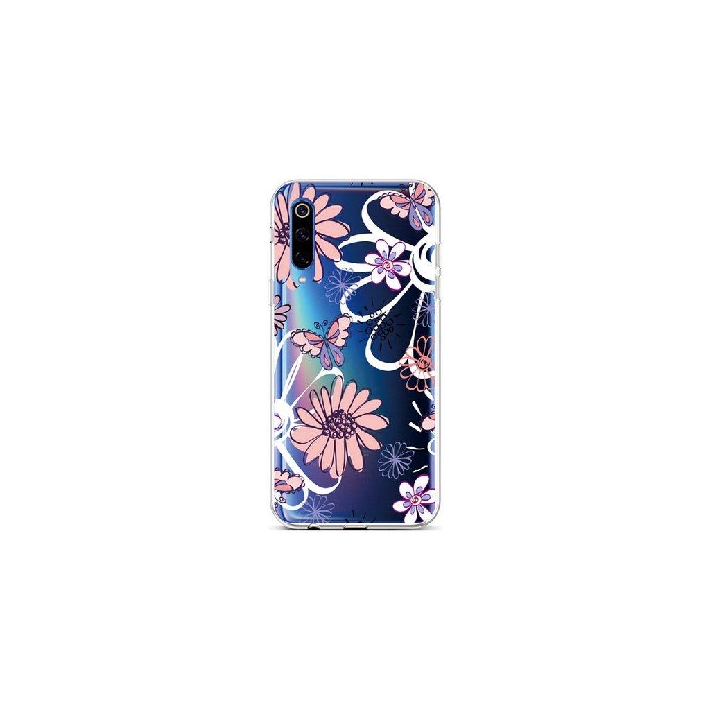 Zadný silikónový kryt na Xiaomi Mi 9 Flowers
