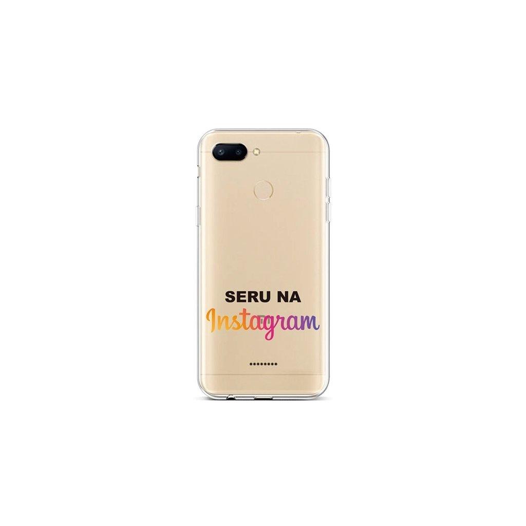 Zadný silikónový kryt na Xiaomi Redmi 6 Instagram