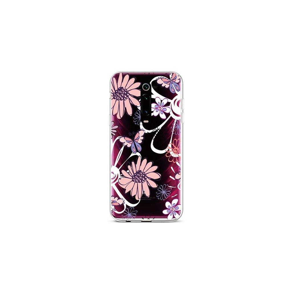 Zadný silikónový kryt na Xiaomi Mi 9T Flowers