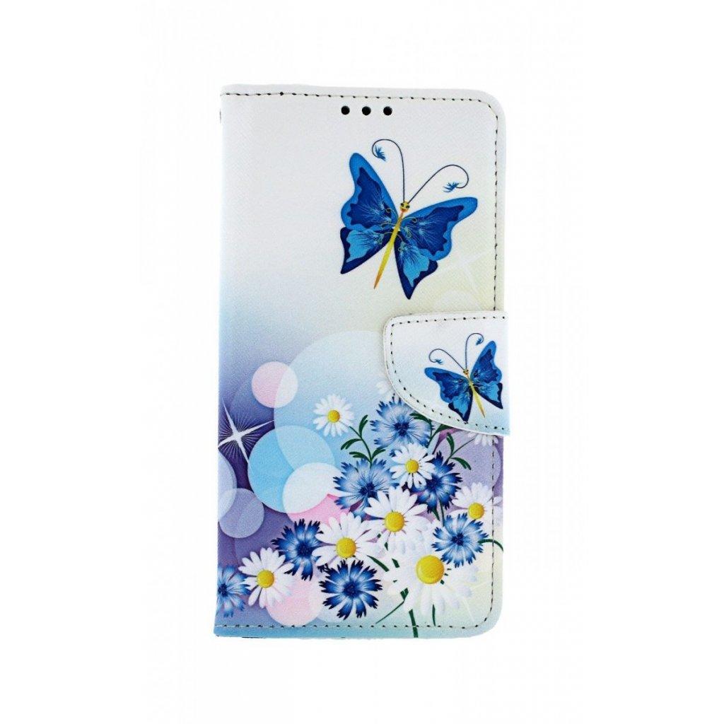 Flipové puzdro na Xiaomi Mi 9T Biele s motýlikom