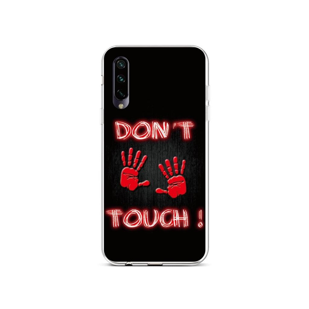 Zadný silikónový kryt na Xiaomi Mi A3 Dont Touch Red