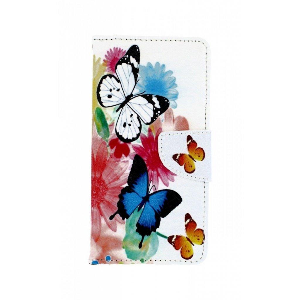 Flipové puzdro na Xiaomi Mi A3 Farebné s motýlikmi