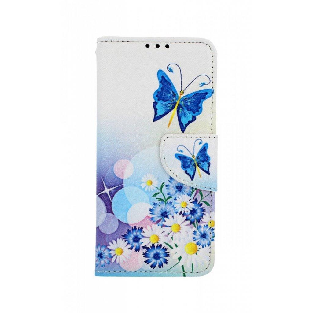 Flipové puzdro na Xiaomi Mi 9 SE Biele s motýlikom