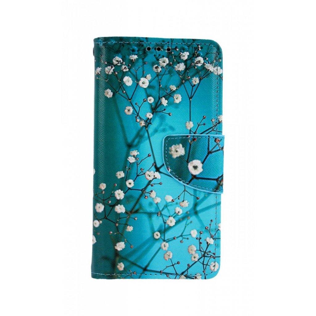 Flipové puzdro na Xiaomi Redmi 7A Modré s kvetmi