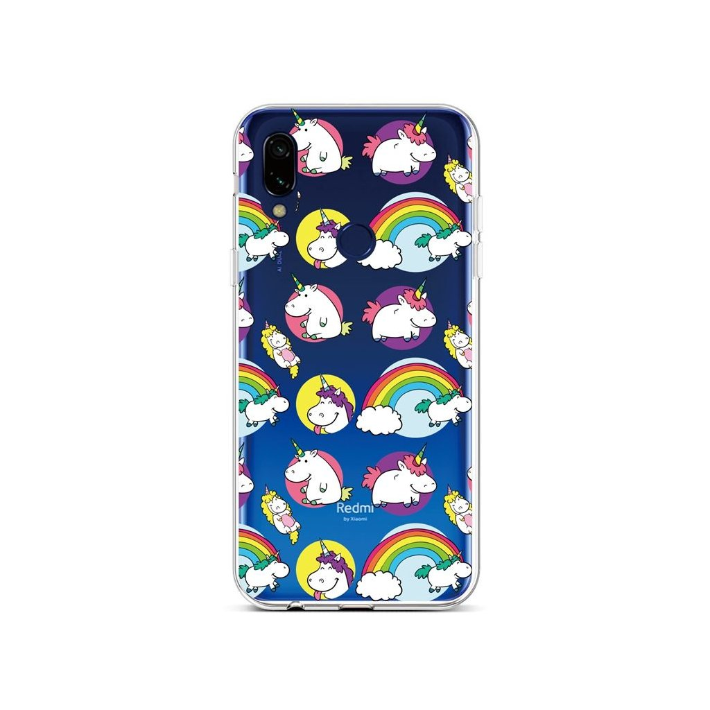 Zadný silikónový kryt na Xiaomi Redmi Note 7 Chunky Unicorns
