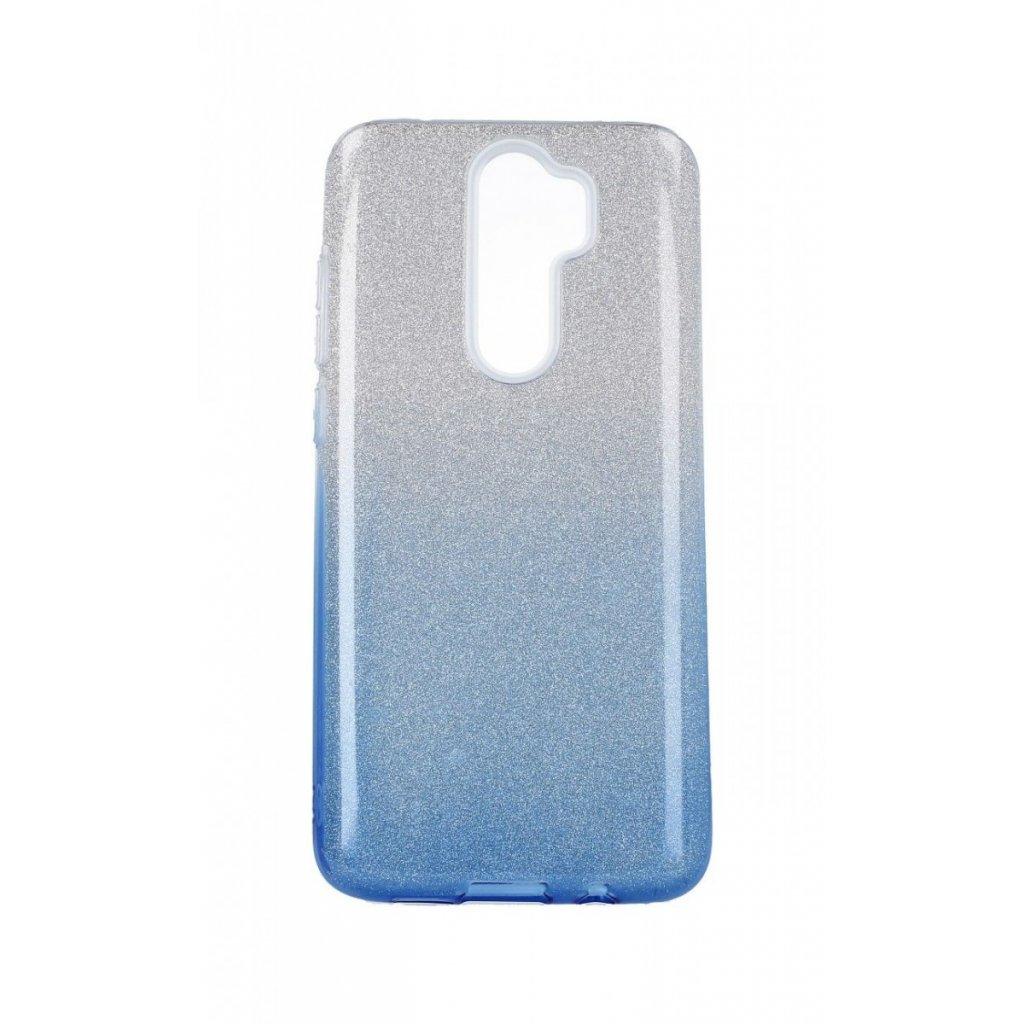 Zadný pevný kryt Forcell na Xiaomi Redmi Note 8 Pro glitter strieborno-modrý