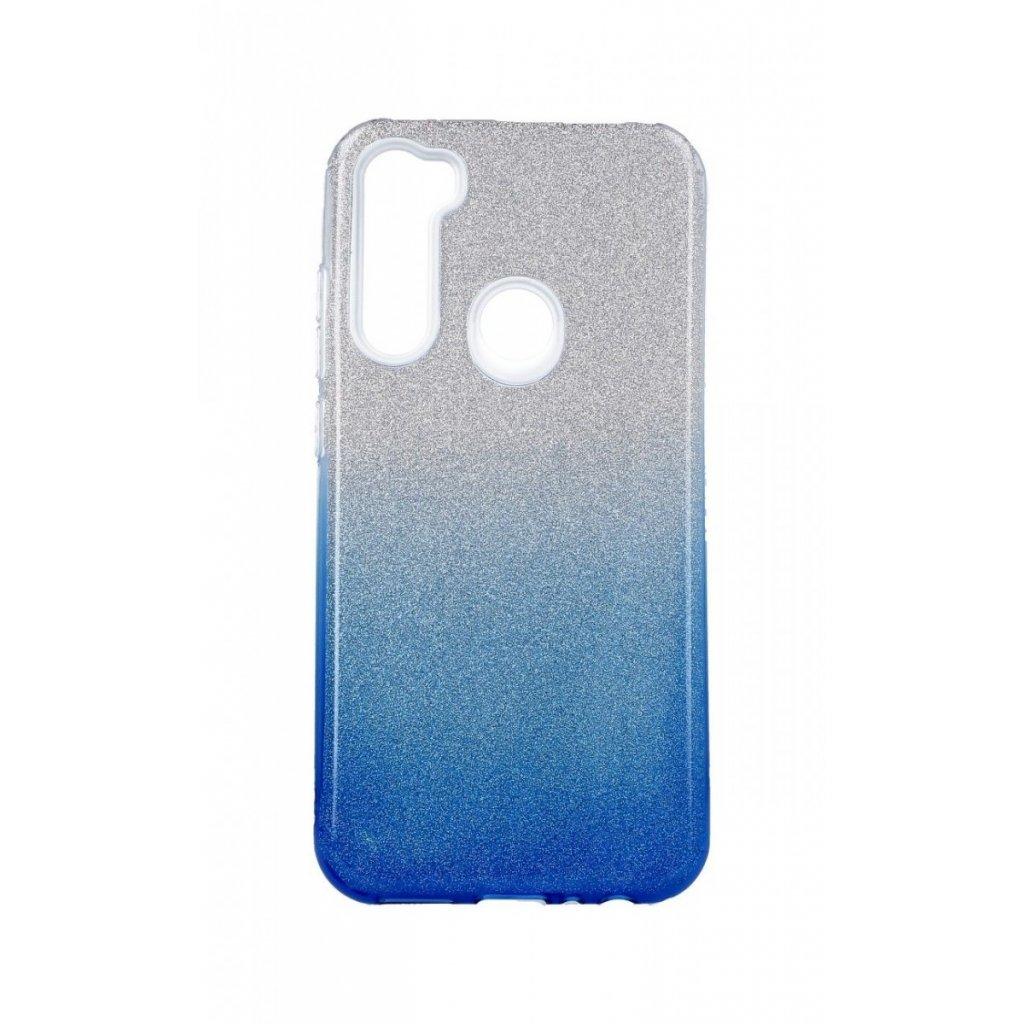 Zadný pevný kryt Forcell na Xiaomi Redmi Note 8 glitter strieborno-modrý