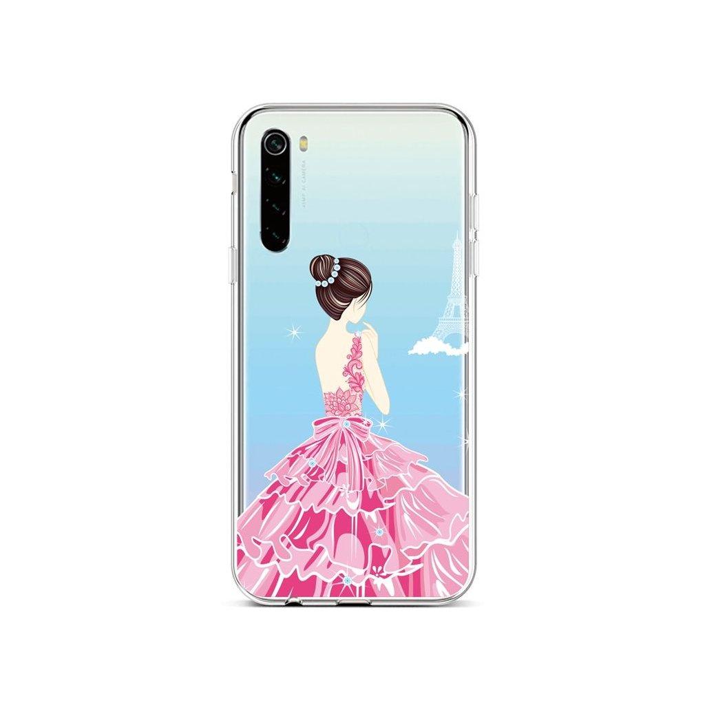 Zadný silikónový kryt na Xiaomi Redmi Note 8 Pink Princess