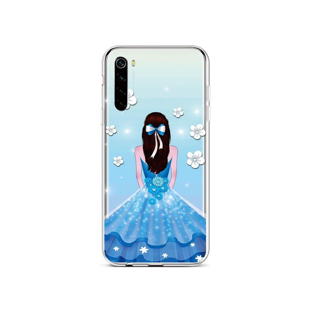 Zadný silikónový kryt na Xiaomi Redmi Note 8 Blue Princess