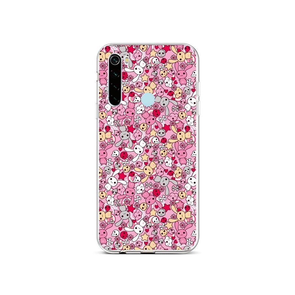 Zadný silikónový kryt na Xiaomi Redmi Note 8 Pink Bunnies