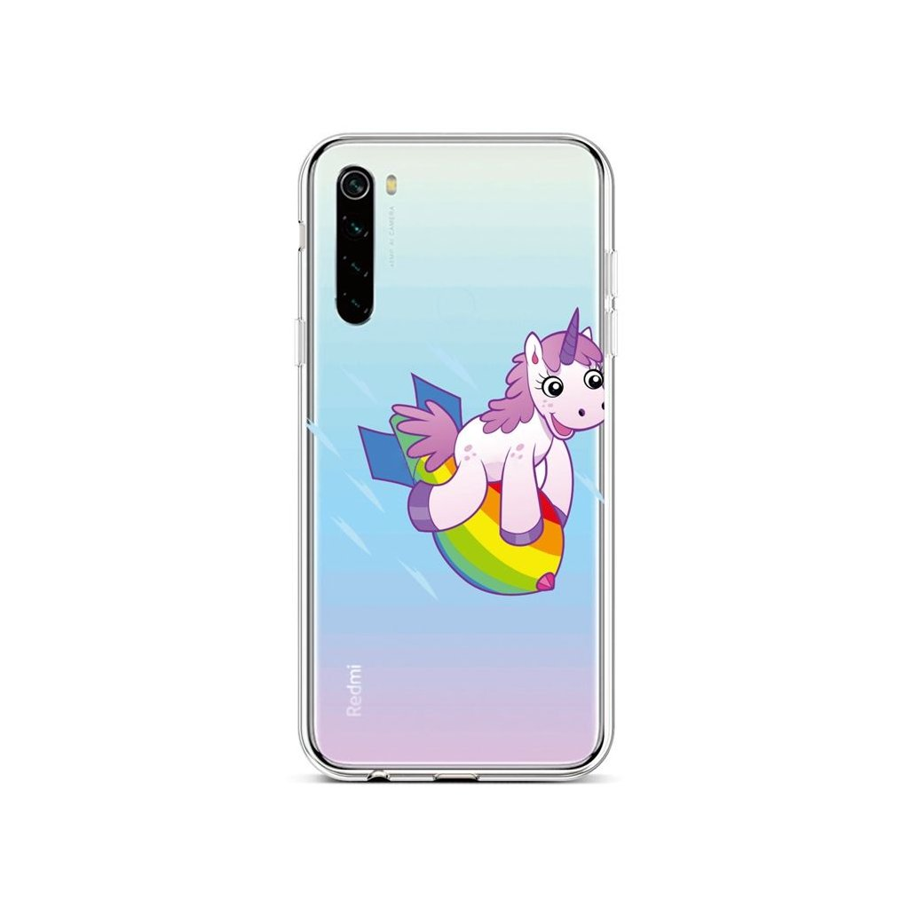 Zadný silikónový kryt na Xiaomi Redmi Note 8 Flying Unicorn