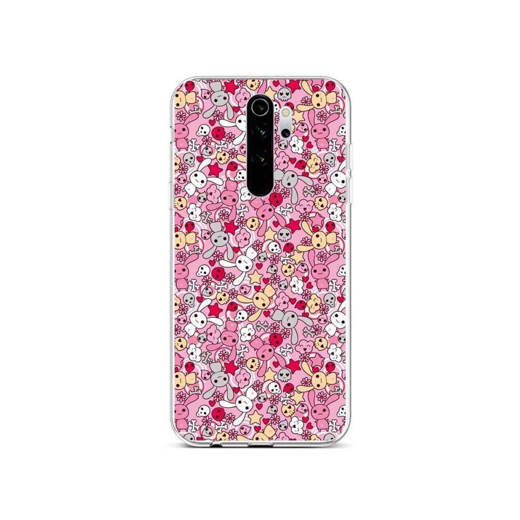 Zadný silikónový kryt na Xiaomi Redmi Note 8 Pro Pink Bunnies