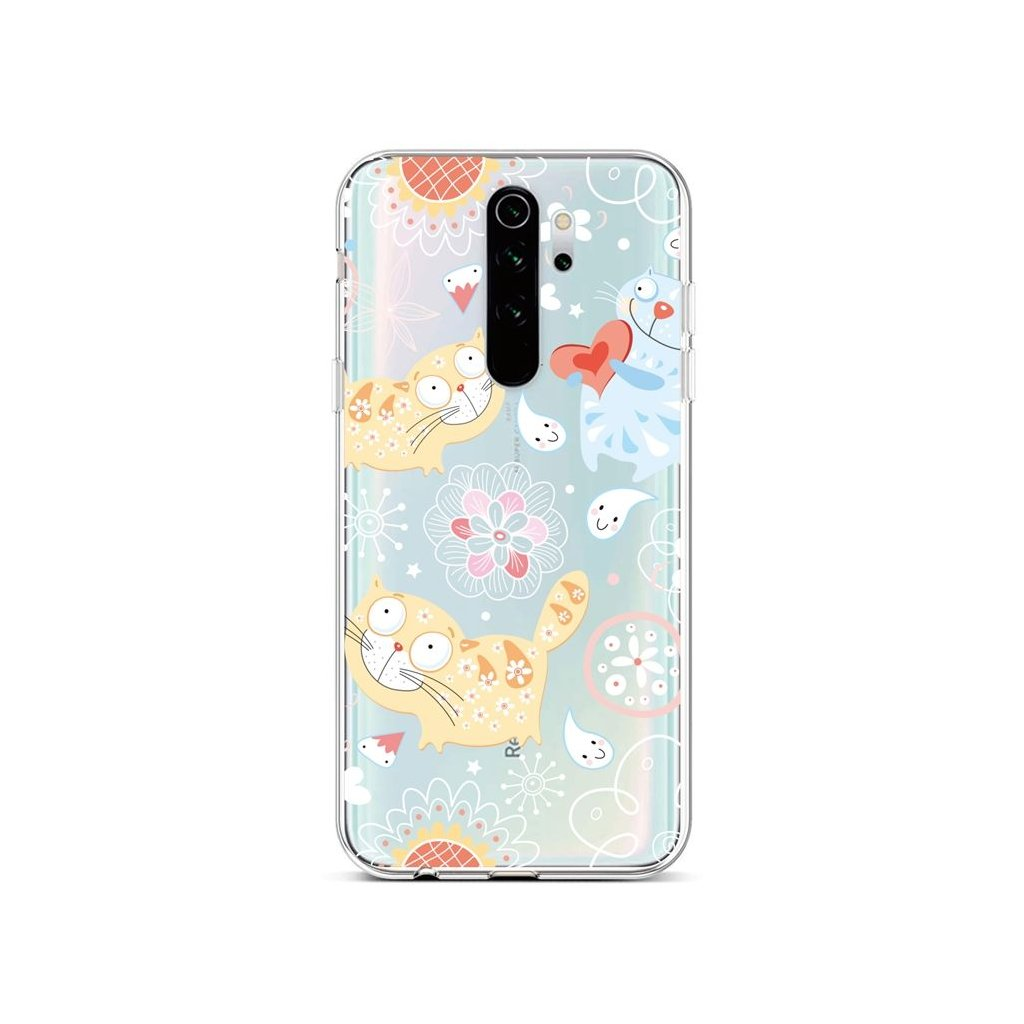 Zadný silikónový kryt na Xiaomi Redmi Note 8 Pro Happy Cats