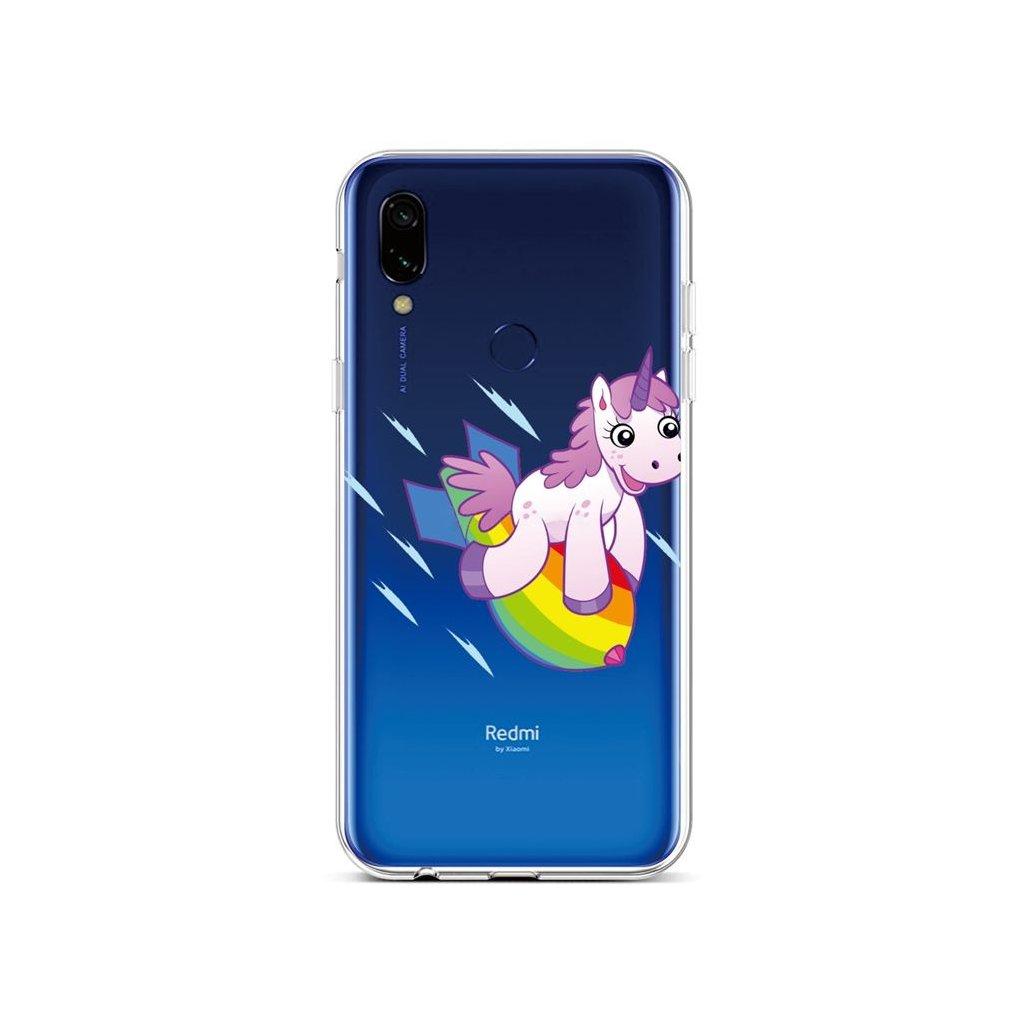 Zadný silikónový kryt na Xiaomi Redmi 7 Flying Unicorn