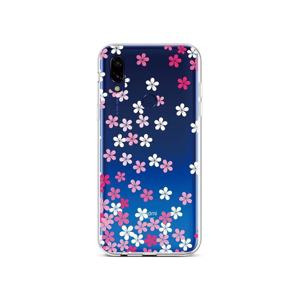 Zadný silikónový kryt na Xiaomi Redmi 7 Pink Blossom