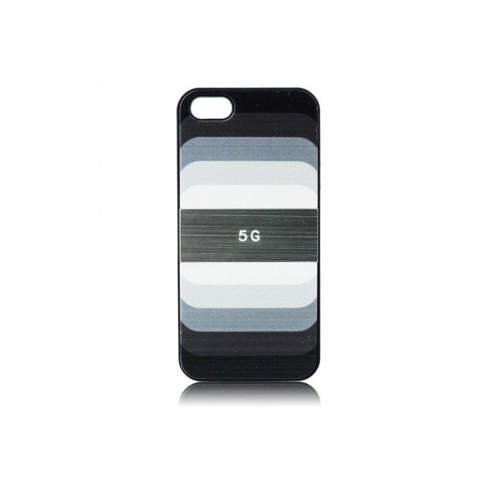 Zadný kryt Rainbow pre iPhone 5 / 5S čierny