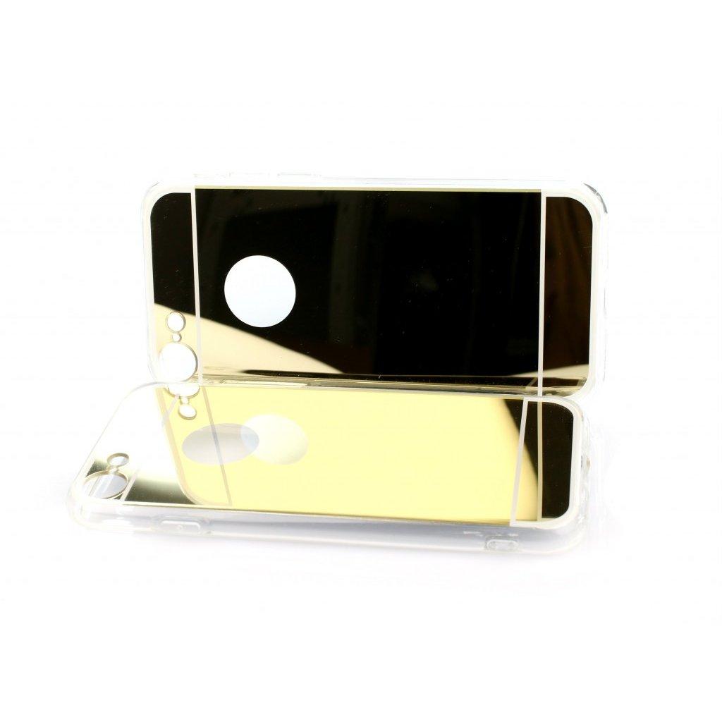 Zadný zrkadlový kryt čiže obal iPhone 7 silikón zlatý