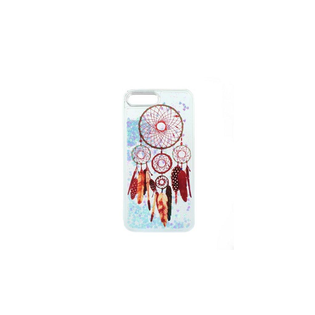 Zadný pevný kryt na iPhone 7 Plus presýpacie Lapač snov červený