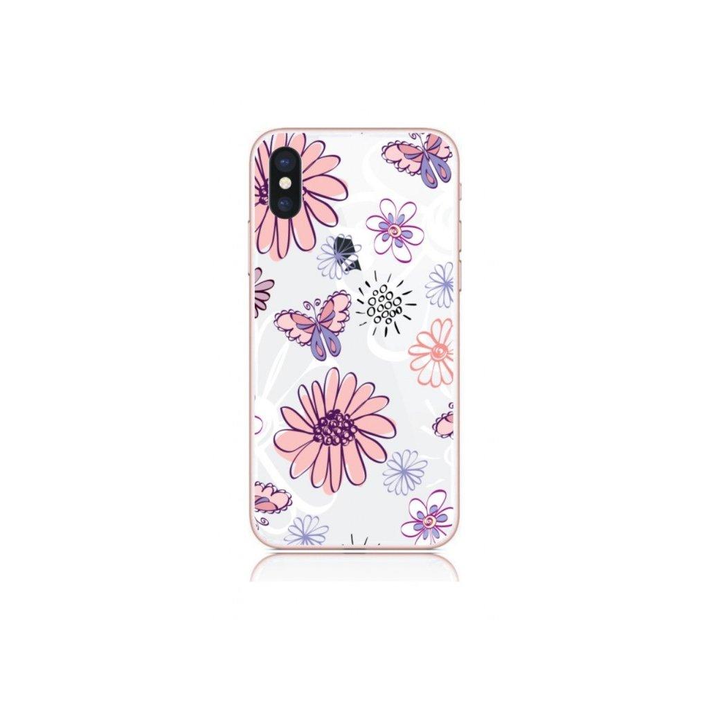 Zadný kryt na iPhone X Flowers