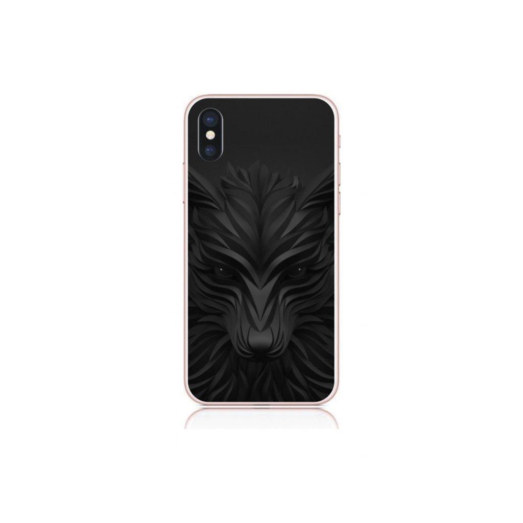 Zadný kryt na iPhone X Čierny vlk