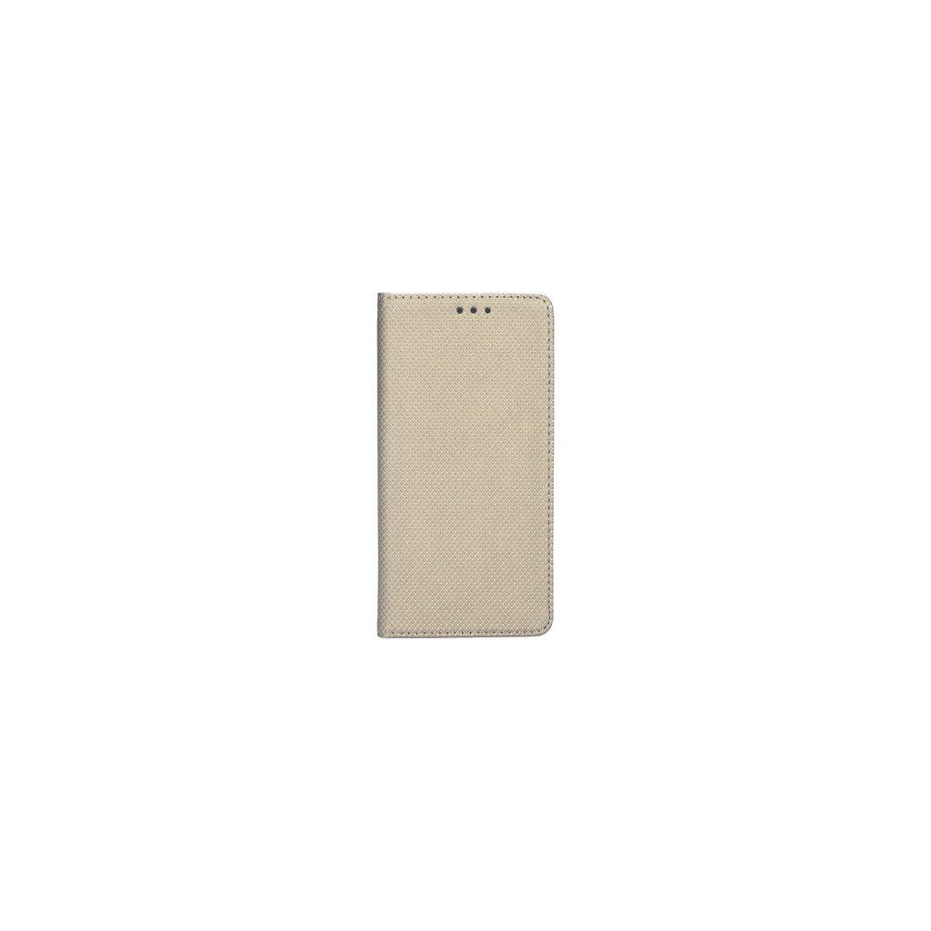 Flipové puzdro Smart Magnet na iPhone X zlaté