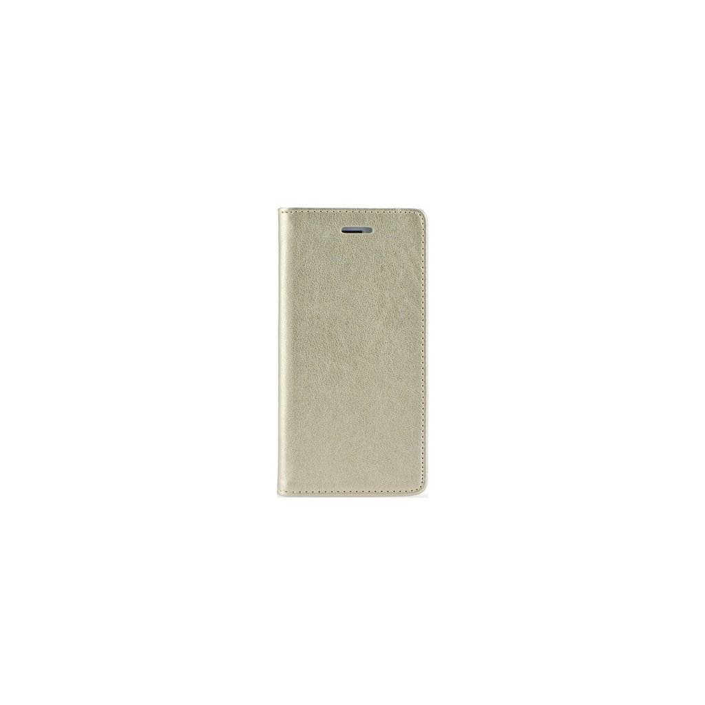 Flipové puzdro Magnet Book na iPhone X zlaté