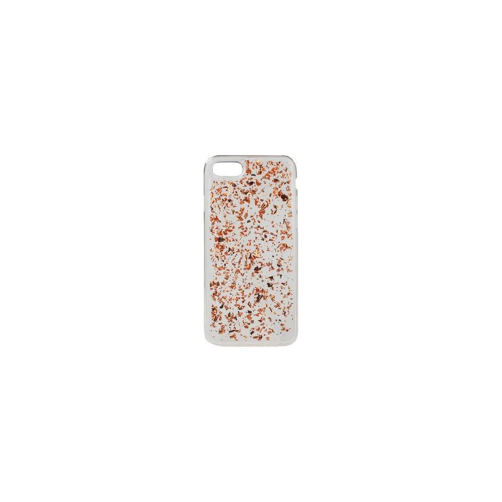 Zadný silikónový kryt na iPhone 7 Medený sa črepy
