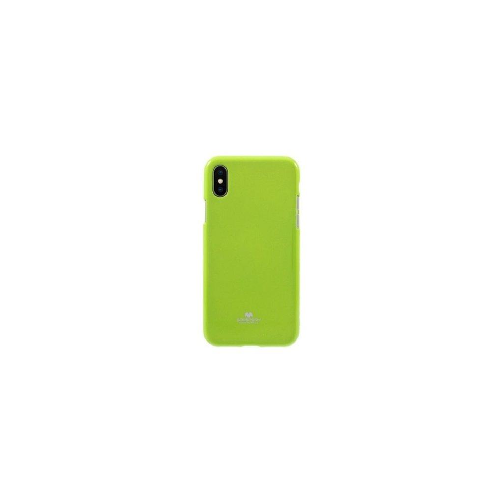Zadný kryt Mercury Jelly Case na iPhone X limetkový