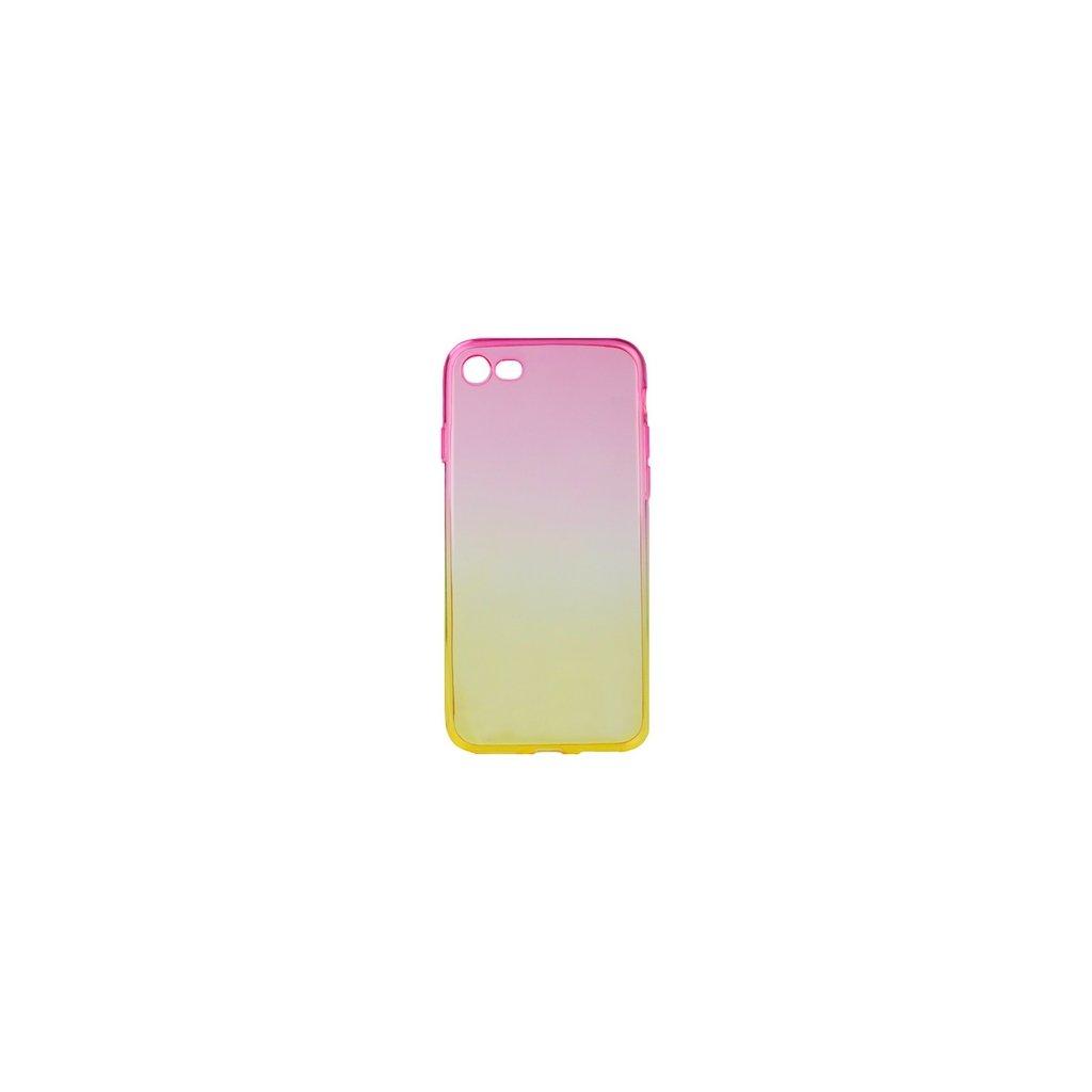 Zadný silikónový kryt Forcell na iPhone 8 dúhový ružový