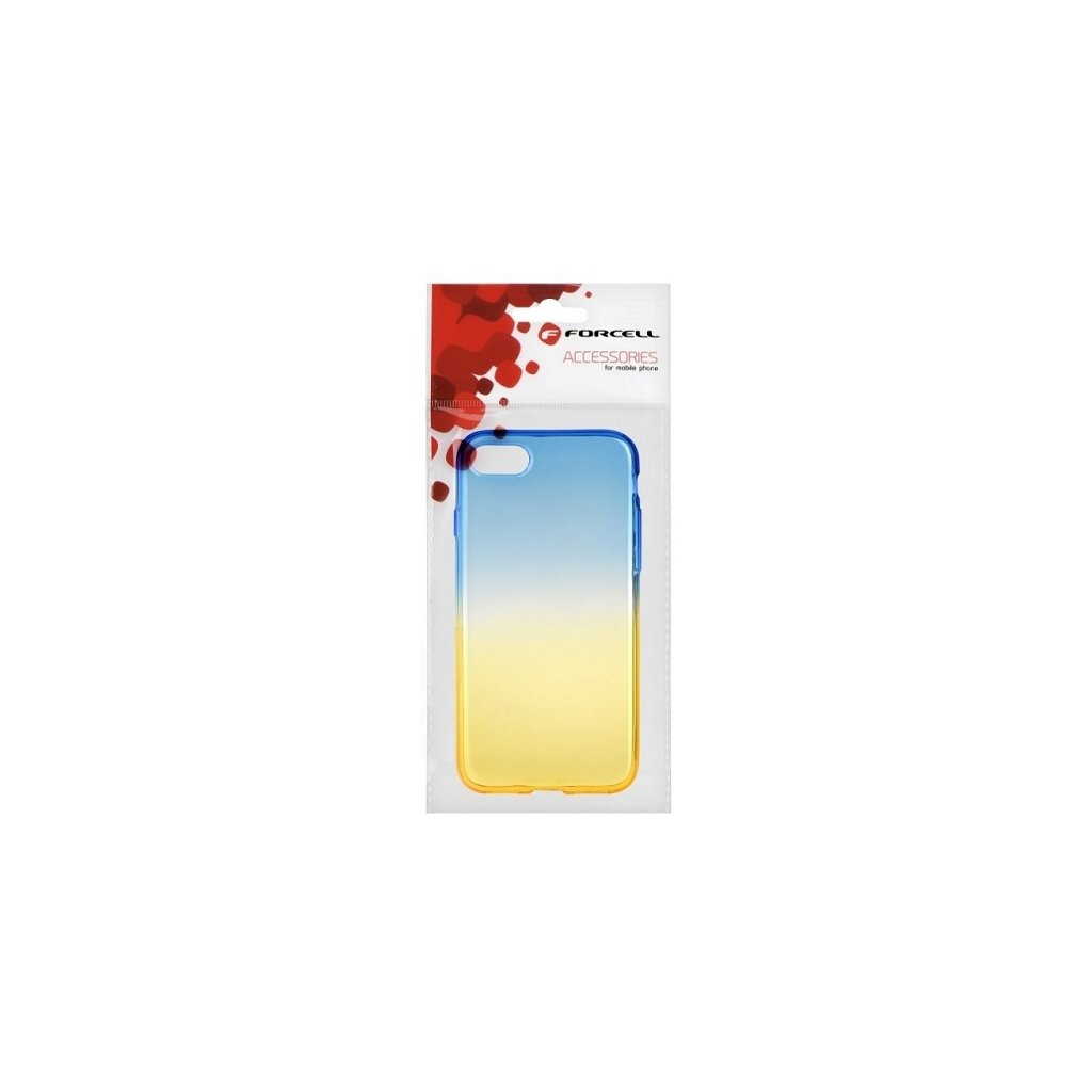 Zadný silikónový kryt Forcell na iPhone 8 dúhový modrý