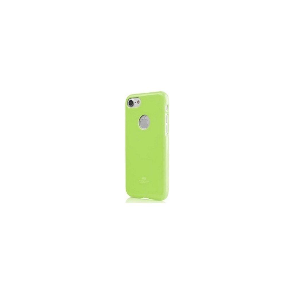 Zadný silikónový kryt Mercury Jelly Case na iPhone 8 limetkový