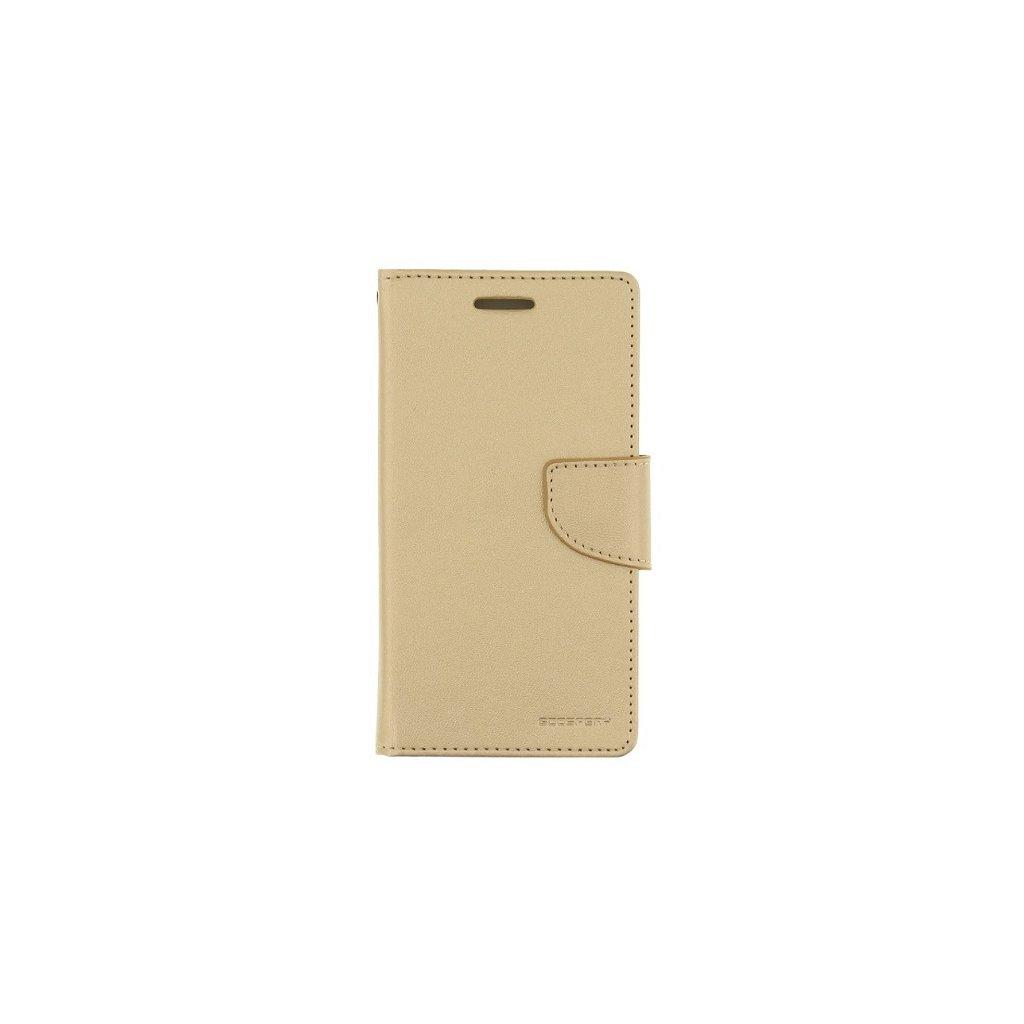 Flipové puzdro Mercury Bravo Diary na iPhone X zlaté