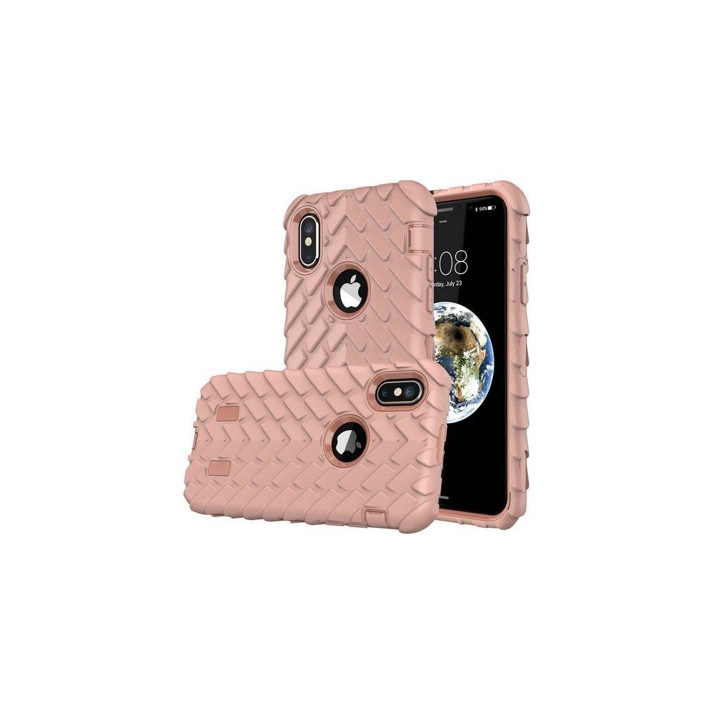 Zadný pevný kryt na iPhone X Dragon ružový