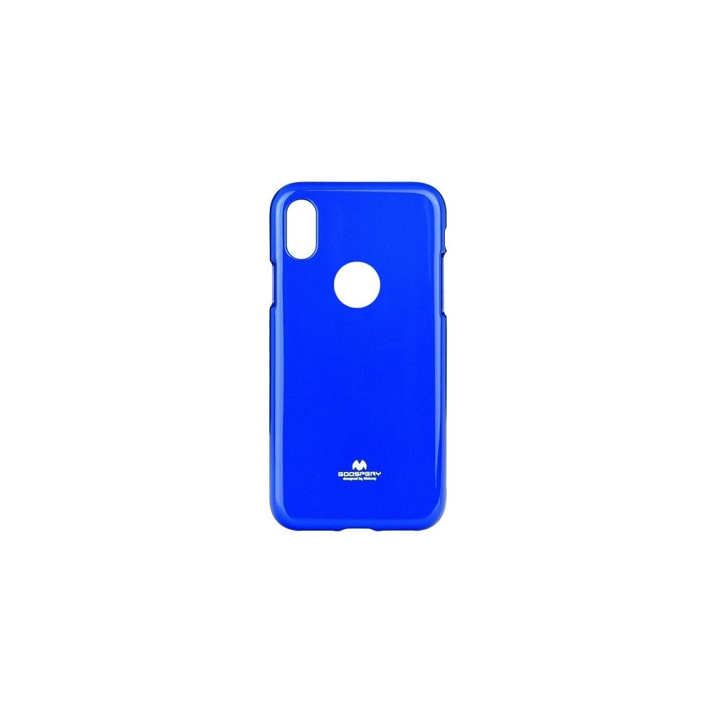 Zadný kryt Mercury Jelly Case na iPhone X modrý