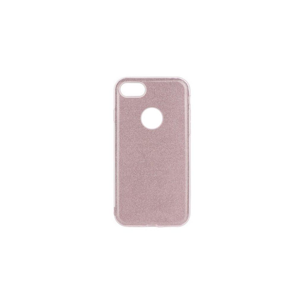 Zadný pevný kryt Forcell na iPhone 8 glitter ružový