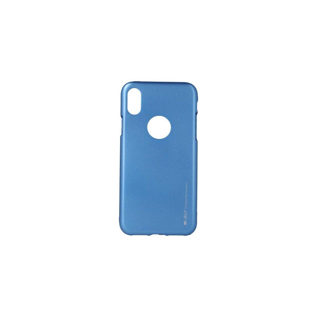Zadný kryt Mercury iJelly Metal na iPhone X s výrezom pre logo modrý
