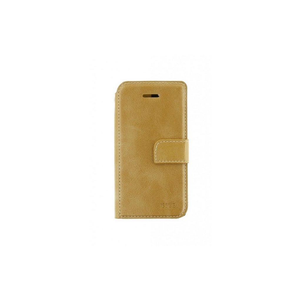 Flipové puzdro Molan Cano Issue Diary na iPhone X zlaté