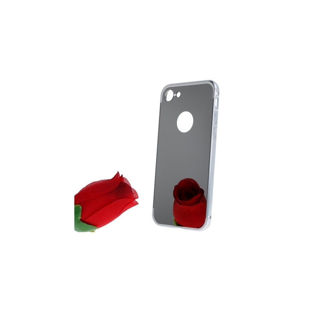 Zadný Zrkadlový kryt na iPhone 8 strieborný