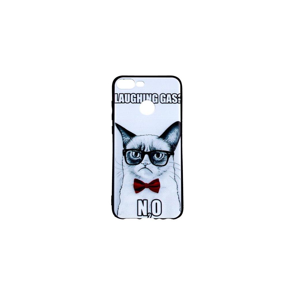 Zadný 3D silikónový kryt na Honor 9 Lite Grumpy Cat