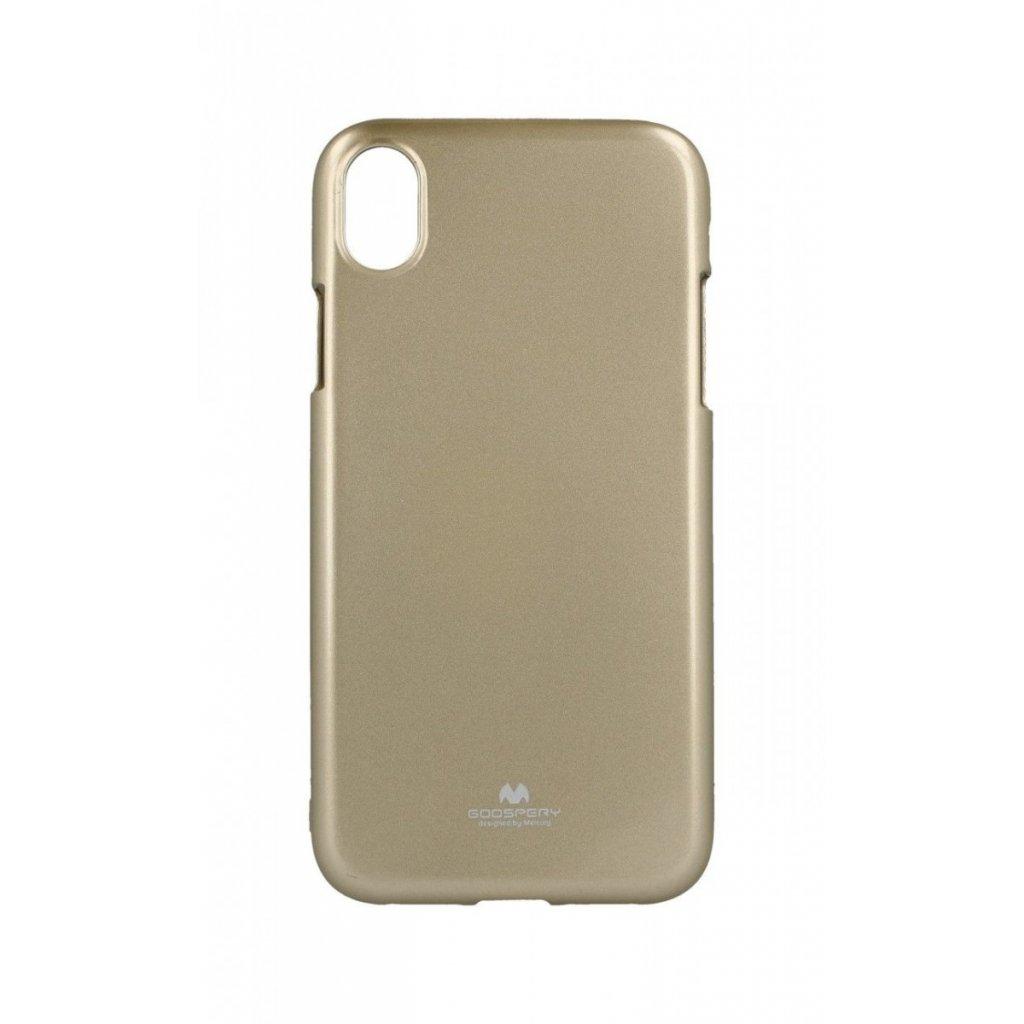 Zadný kryt Mercury Jelly Case na iPhone XR zlatý