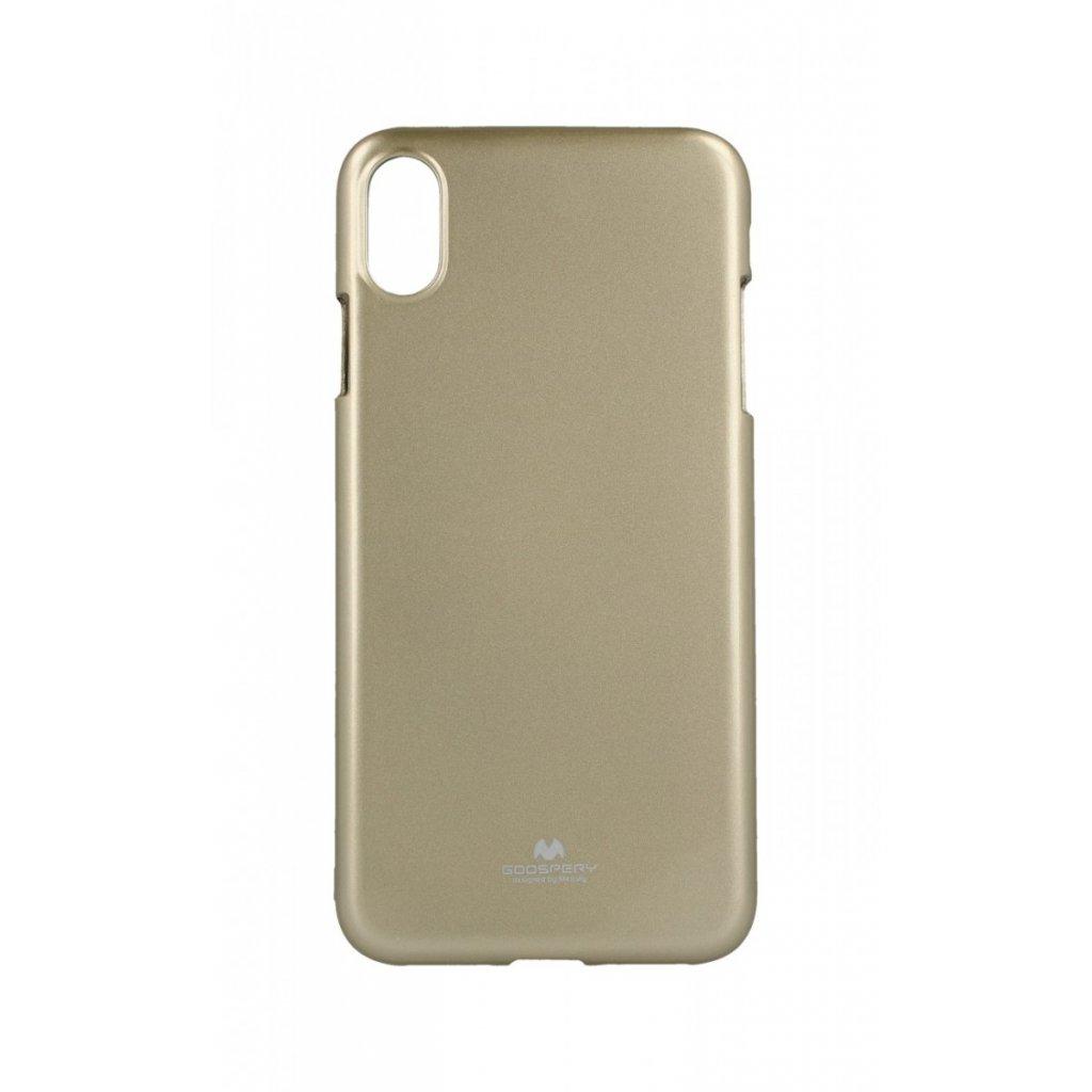 Zadný kryt Mercury Jelly Case na iPhone XS Max zlatý