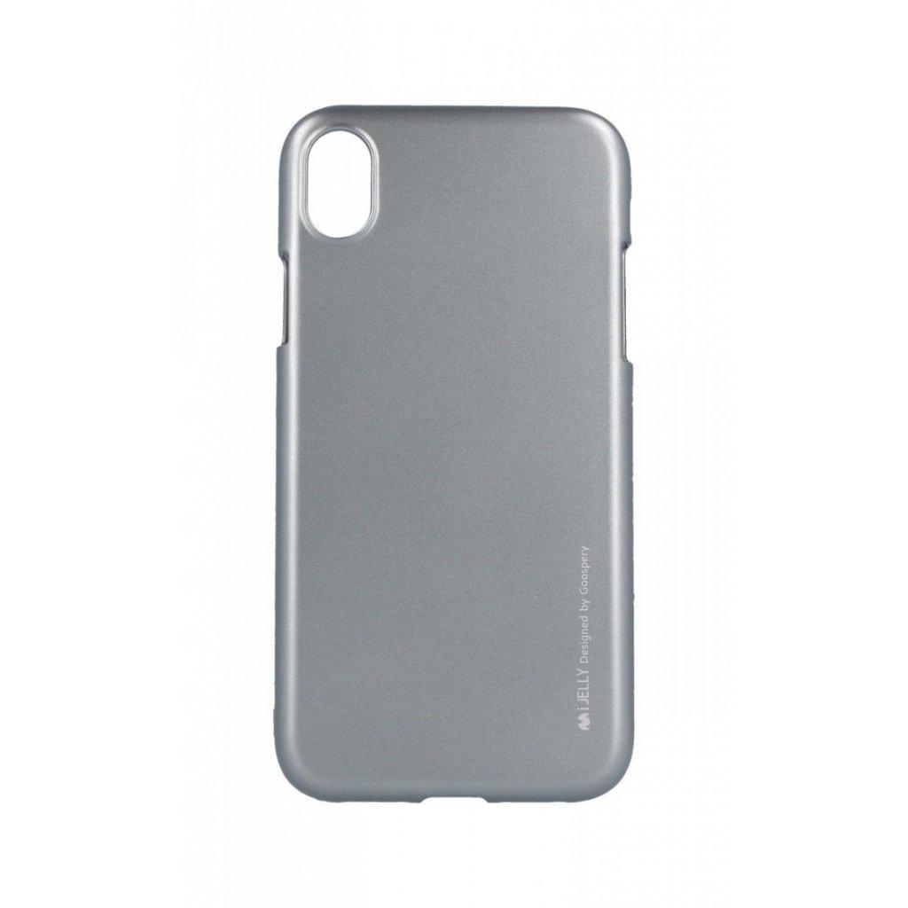 Zadný kryt Mercury iJelly Metal na iPhone XR sivý