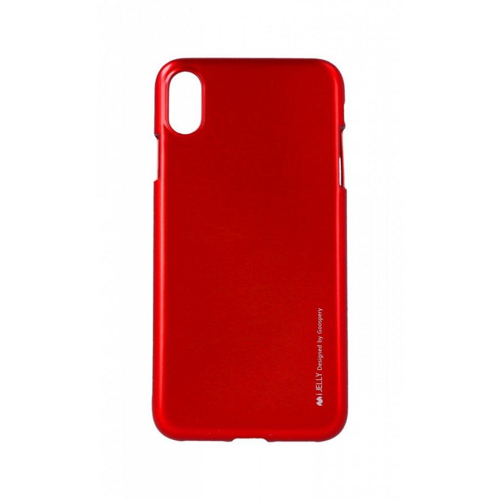 Zadný kryt Mercury iJelly Metal na iPhone XS Max červený