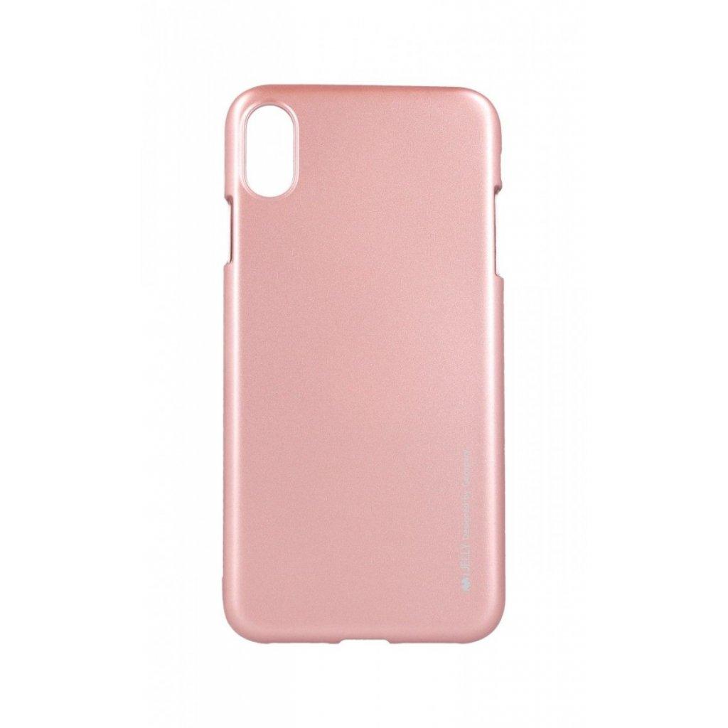 Zadný kryt Mercury iJelly Metal na iPhone XS Max ružový